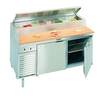 La Rosa Refrigeration L-14138-28 refrigerated counter, pizza prep table