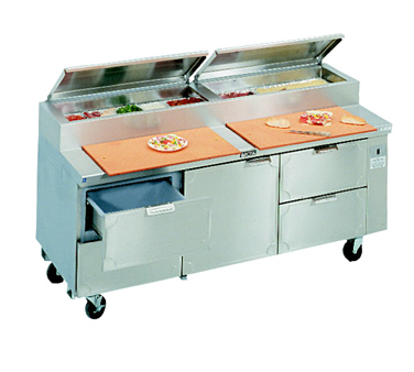 La Rosa Refrigeration L-15148-28 refrigerated counter, pizza prep table