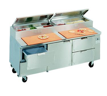 La Rosa Refrigeration L-15184-28 refrigerated counter, pizza prep table