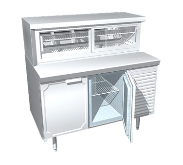 La Rosa Refrigeration L-34162-23-28 display case, refrigerated