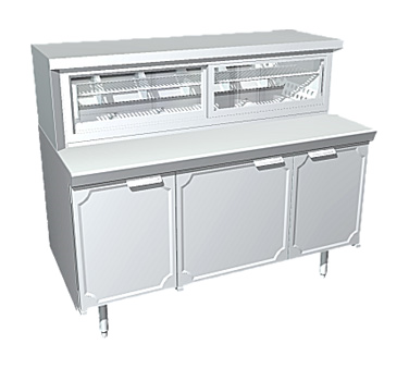 La Rosa Refrigeration L-35160-23-28 display case, refrigerated