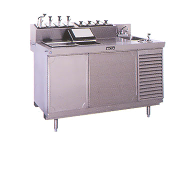 La Rosa Refrigeration L-42146-28 ice cream dipping cabinet with syrup rail
