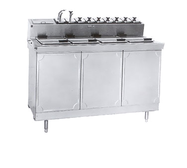 La Rosa Refrigeration L-43154-28 ice cream dipping cabinet with syrup rail
