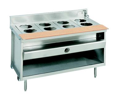 La Rosa Refrigeration L-80130-28 serving counter, hot food, gas