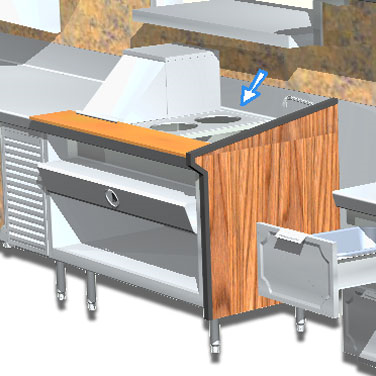 La Rosa Refrigeration L-90170-B adapter plate