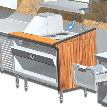 La Rosa Refrigeration L-90170-C adapter plate