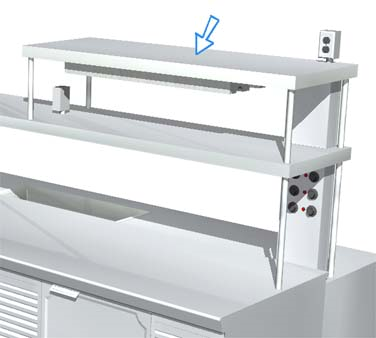 La Rosa Refrigeration L-90177-B DOUBLE overshelf, table-mounted