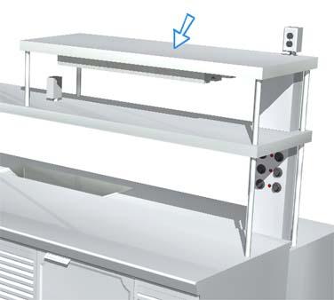 La Rosa Refrigeration L-90177-D SINGLE overshelf, table-mounted