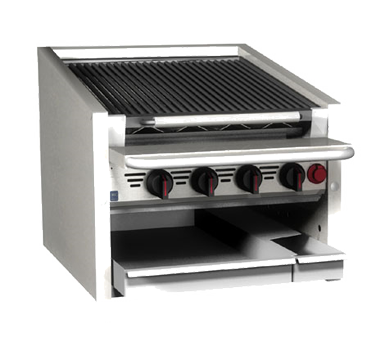 Magikitch'n CM-RMB-624CR charbroiler, gas, countertop
