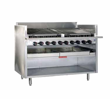 Magikitch'n FM-RMB-648CR charbroiler, gas, floor model