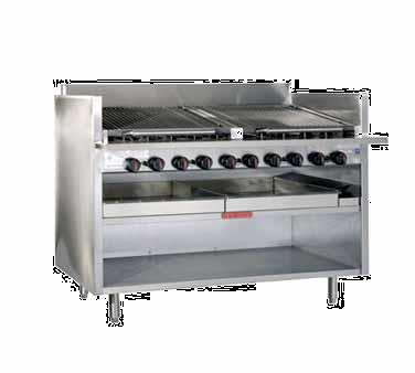 Magikitch'n FM-RMB-672CR charbroiler, gas, floor model