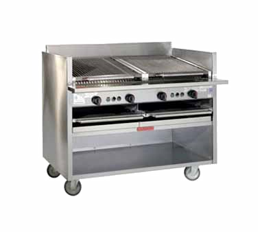 Magikitch'n FM-SMB-660 charbroiler, gas, floor model