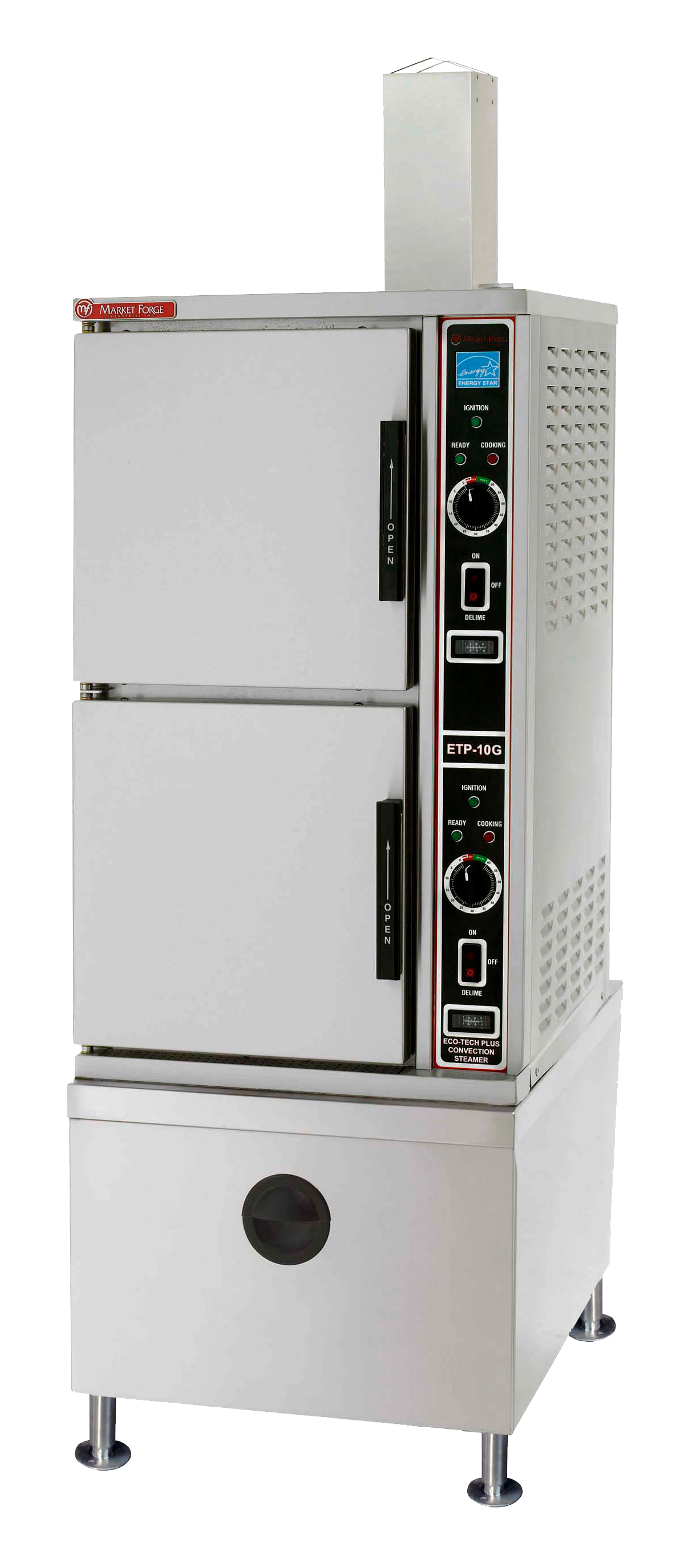Market Forge ETP-10G steamer, convection, gas, floor model