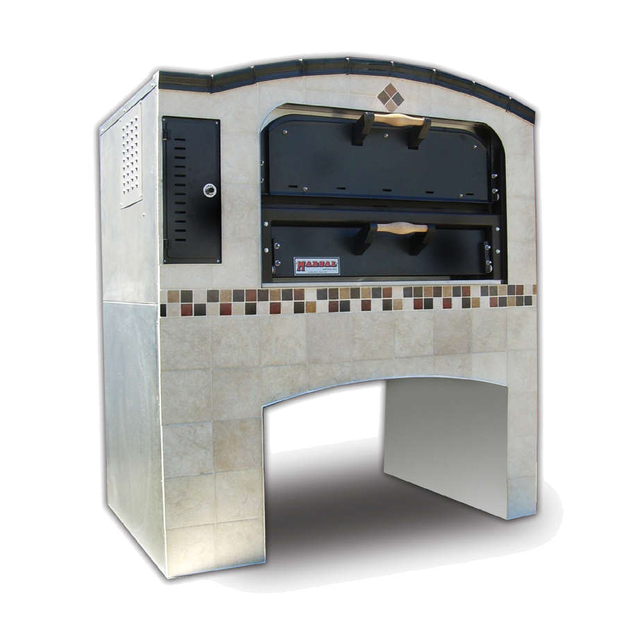 Marsal & Sons MB-236 STACKED pizza oven, deck-type, gas