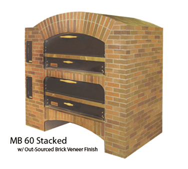 Marsal & Sons MB-866 STACKED pizza oven, deck-type, gas