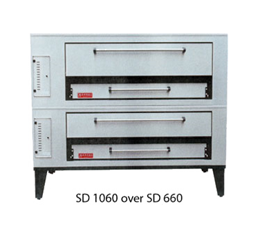 Marsal & Sons SD-1060/SD-660 pizza oven, deck-type, gas