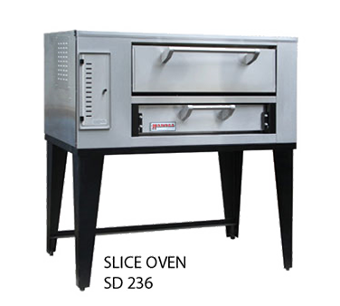 Marsal & Sons SD-236 STACKED pizza oven, deck-type, gas