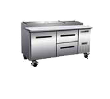 Maxximum MXCPP70-DR refrigerated counter, pizza prep table