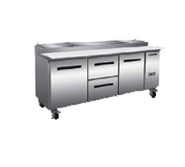 Maxximum MXCPP92-DM refrigerated counter, pizza prep table