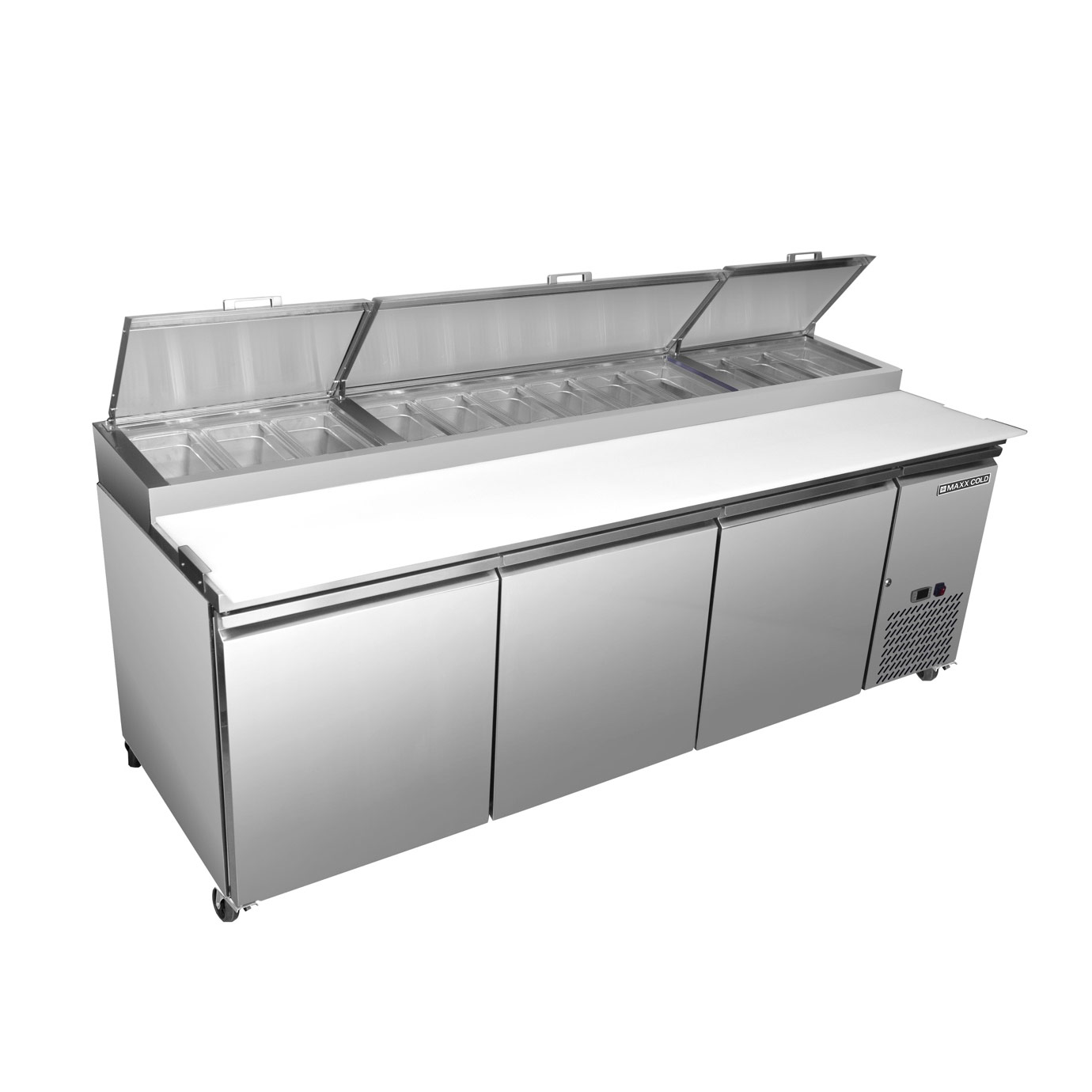 Maxximum MXSPP92 refrigerated counter, pizza prep table
