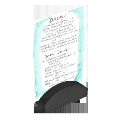 Menu Solutions WDBLOCK-RND menu card holder / number stand