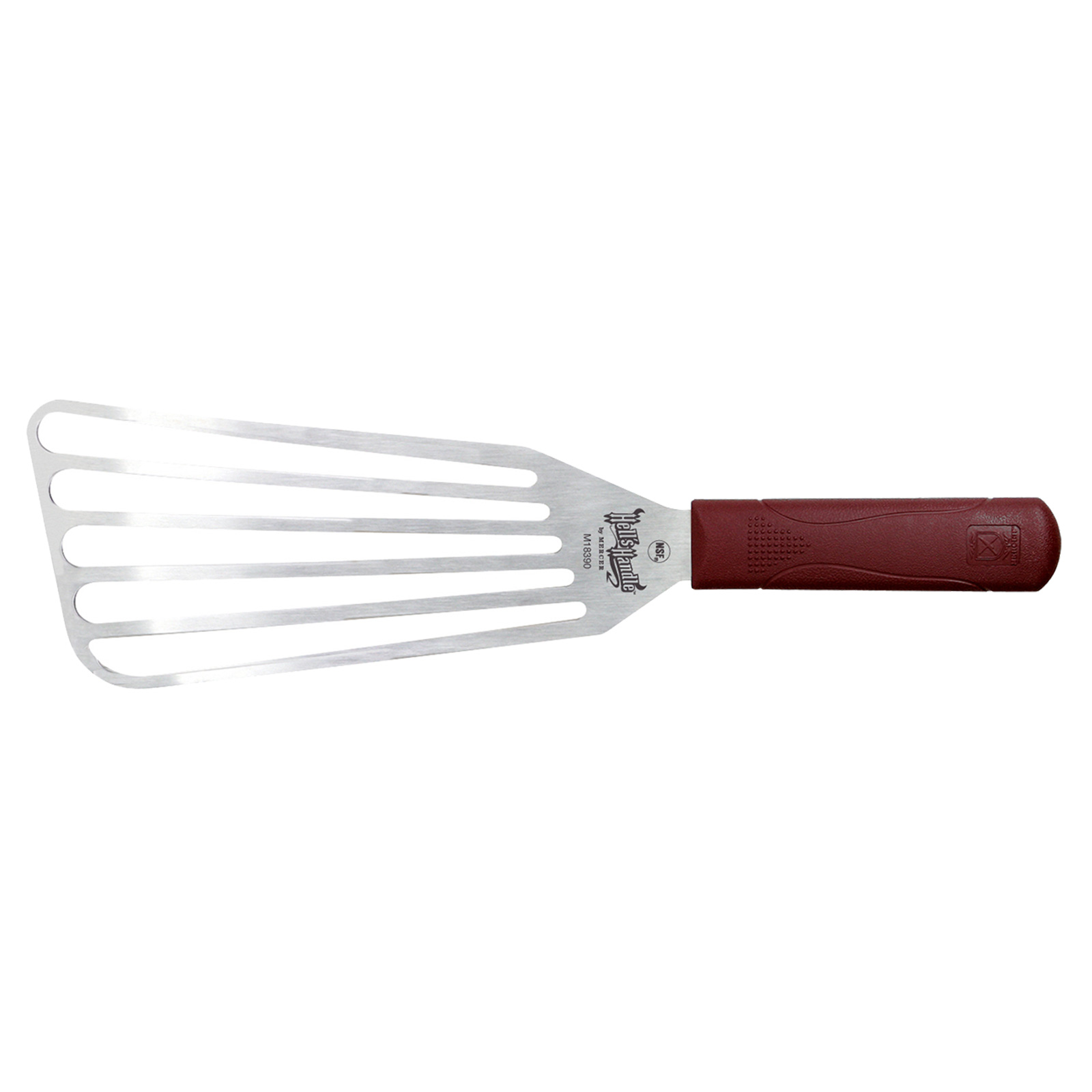 Mercer Culinary M18390 turner, slotted, stainless steel