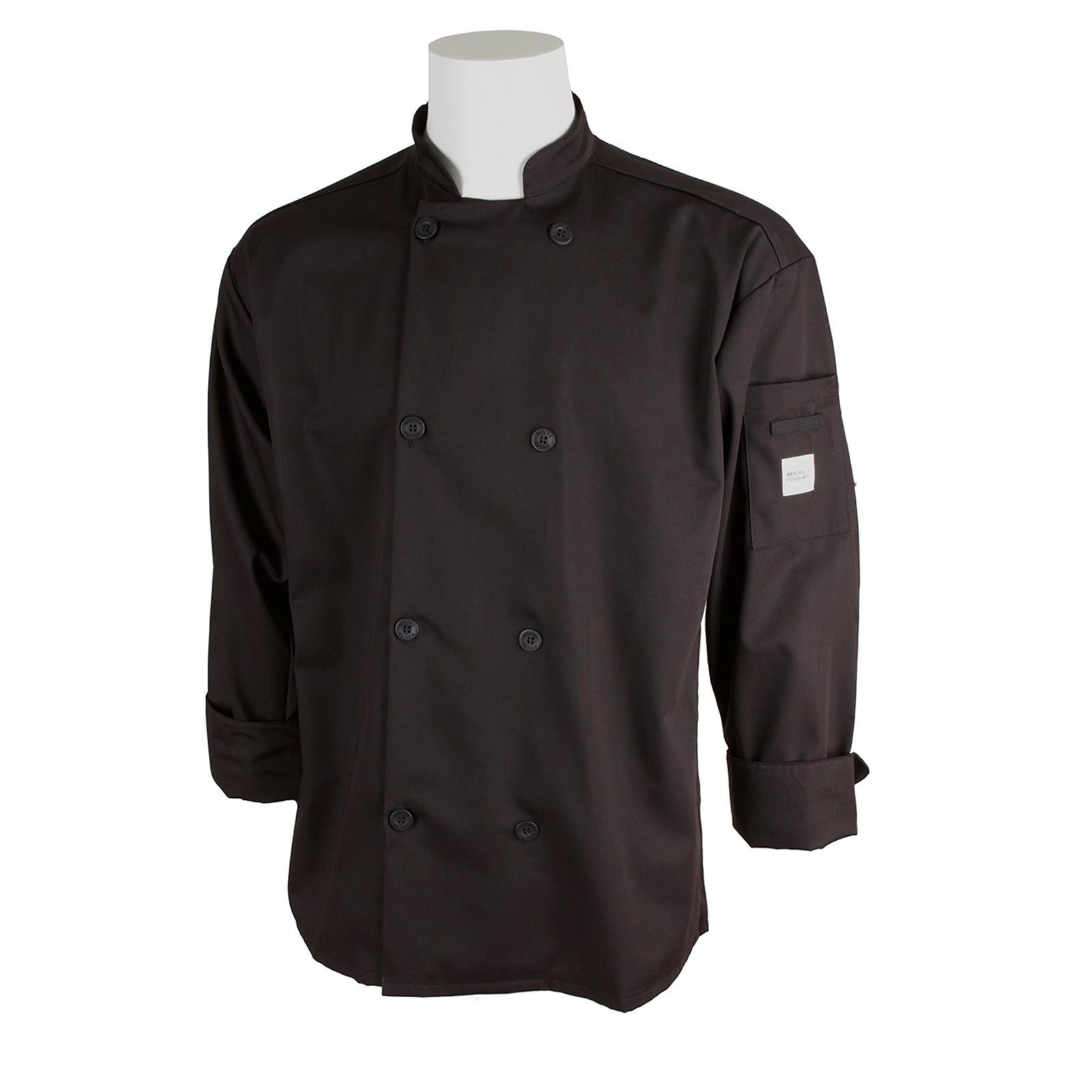 Mercer Culinary M60010BK6X chef's coat