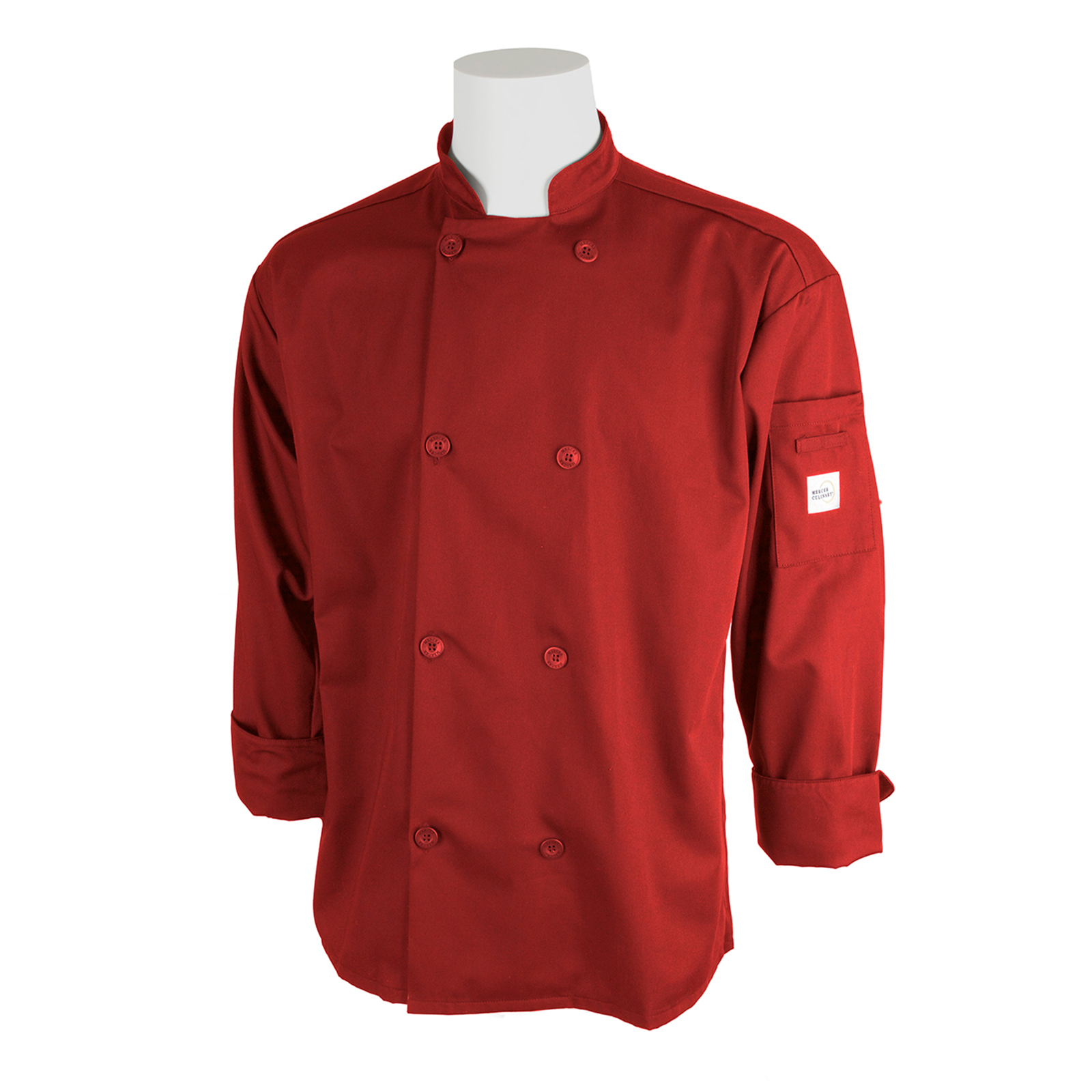 Mercer Culinary M60010RDS chef's coat