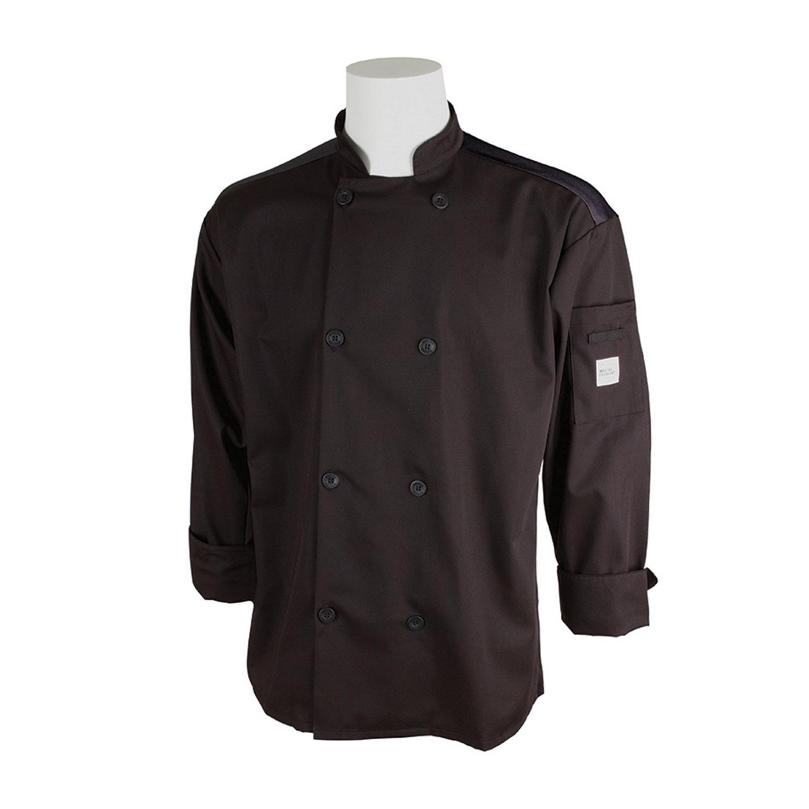 Mercer Culinary M60017BK2X chef's coat