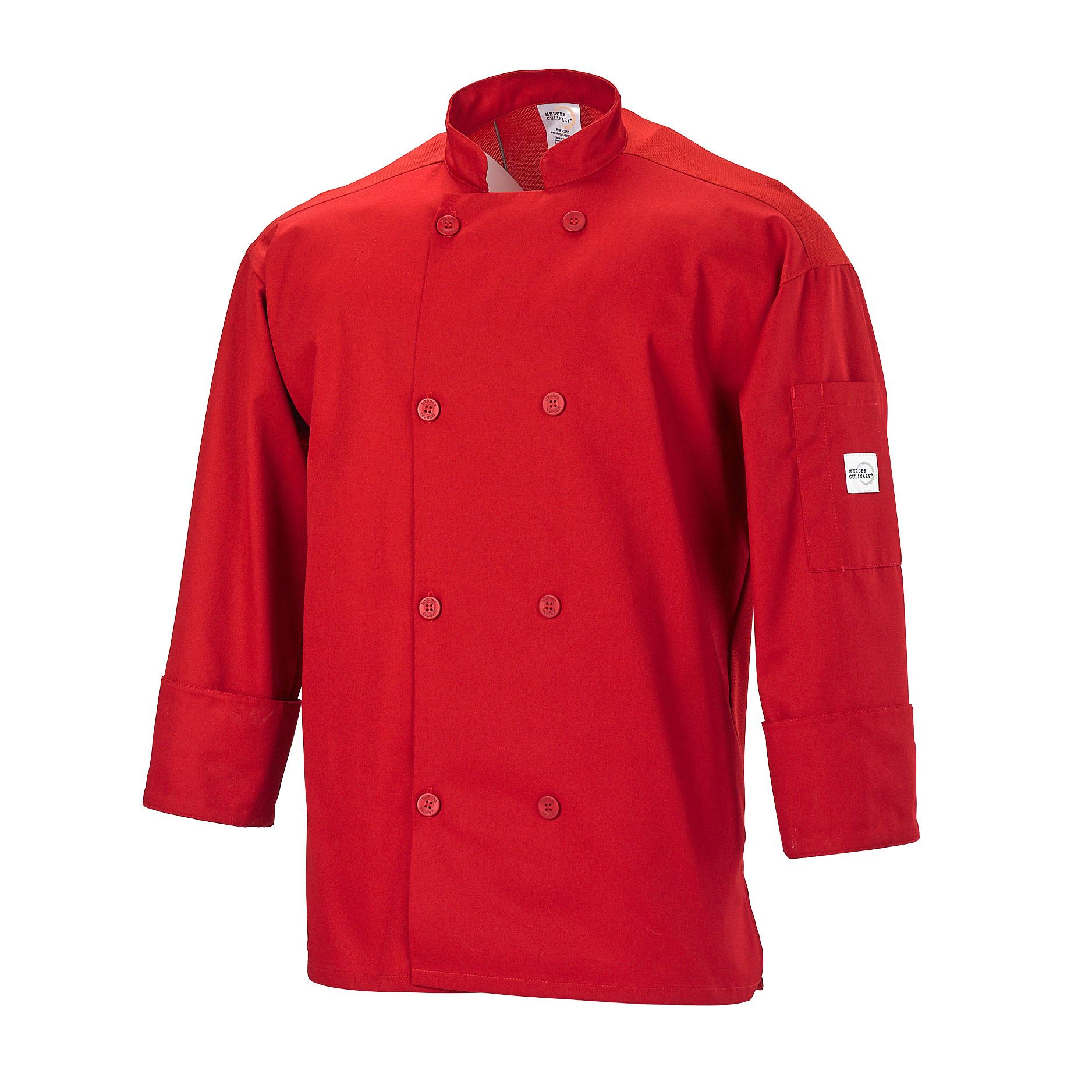 Mercer Culinary M60017RD1X chef's coat