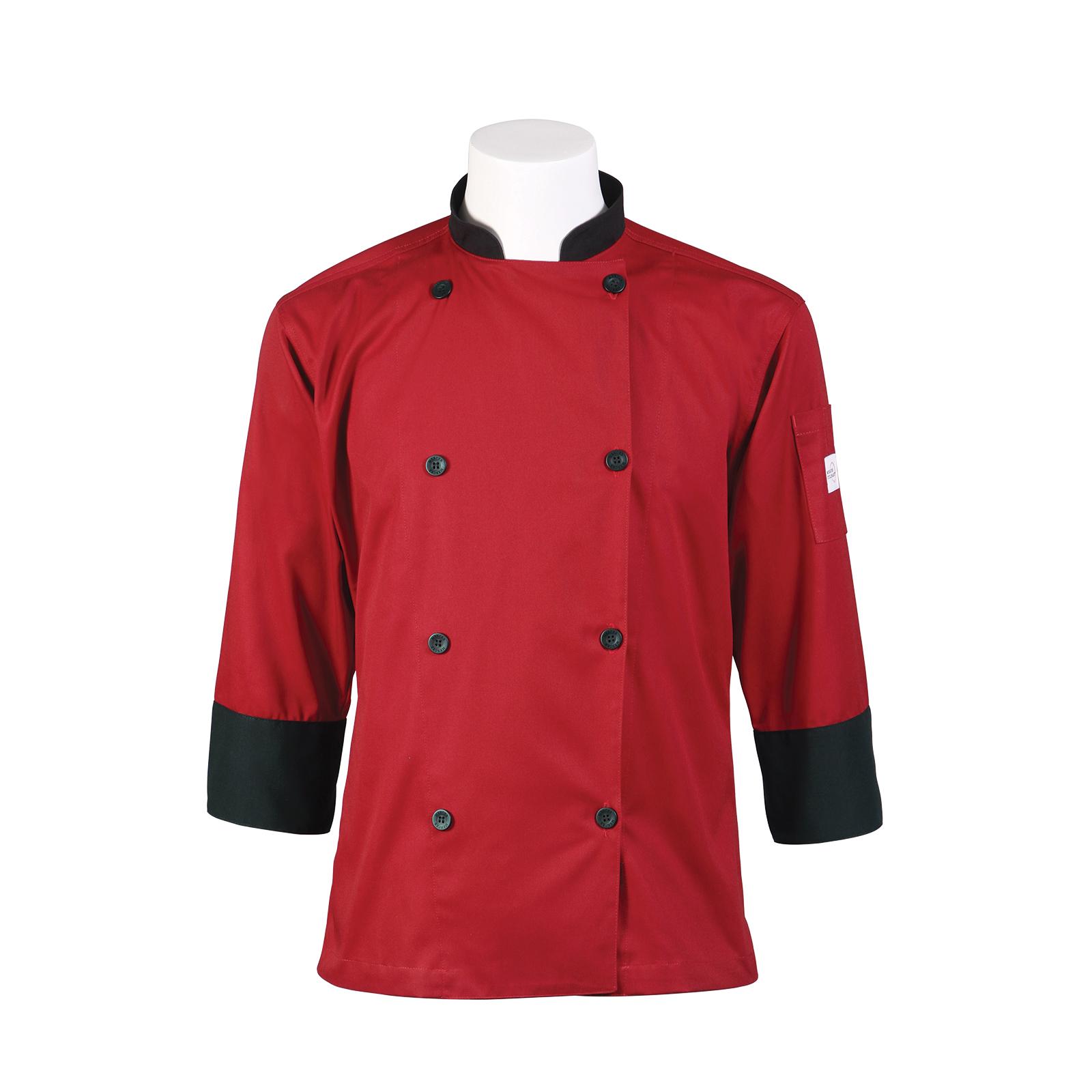 Mercer Culinary M60018RDBM chef's coat