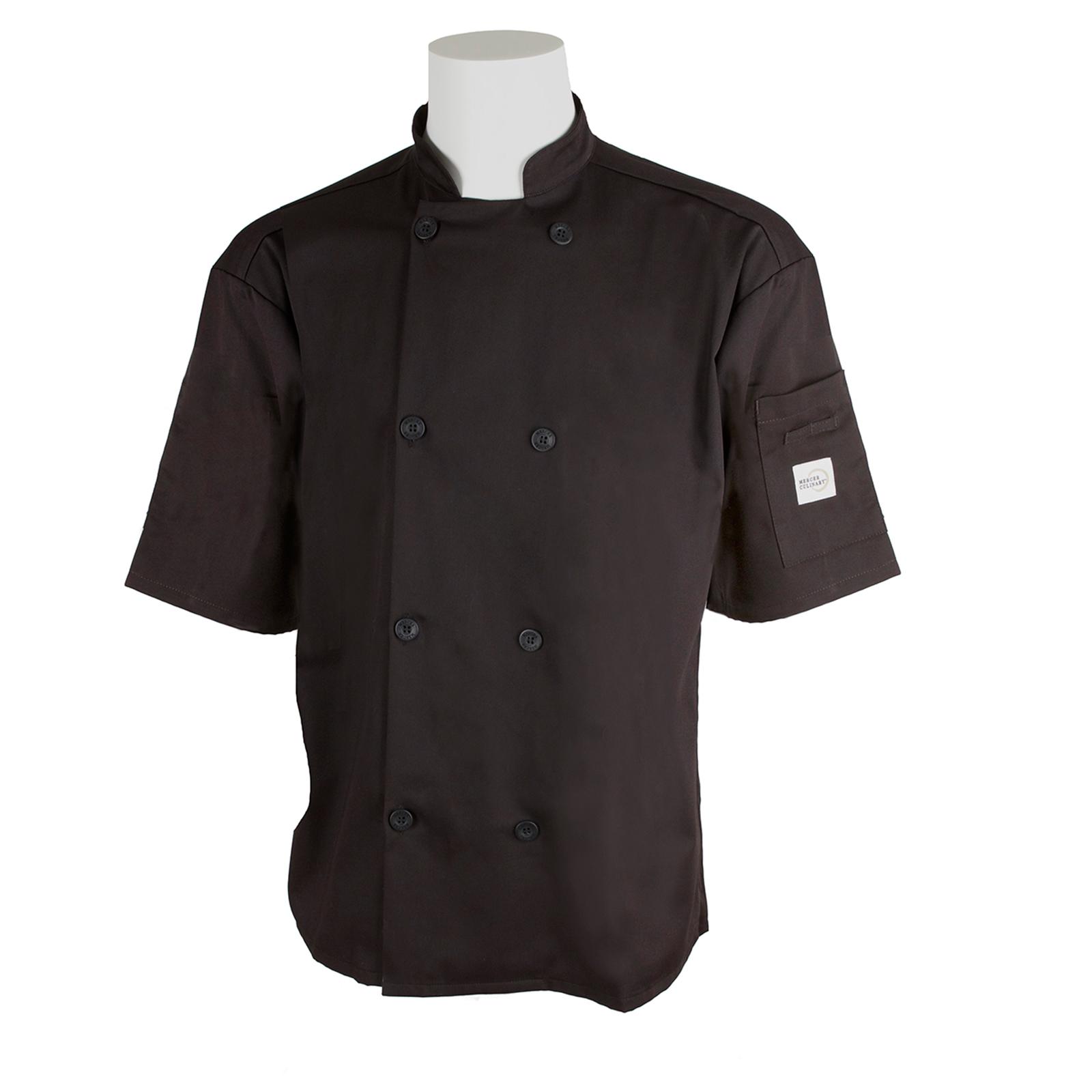 Mercer Culinary M60019BK2X chef's coat