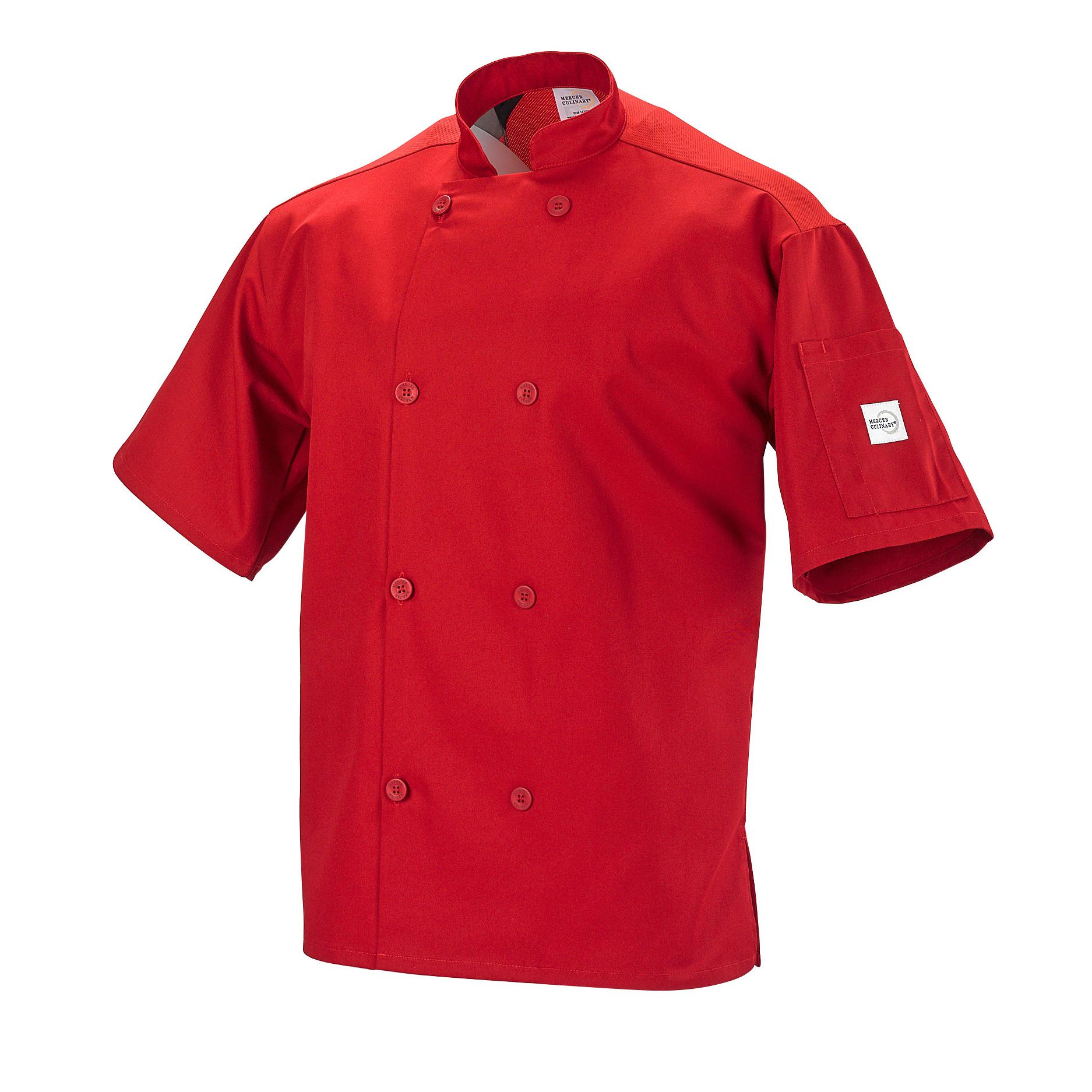 Mercer Culinary M60019RD1X chef's coat