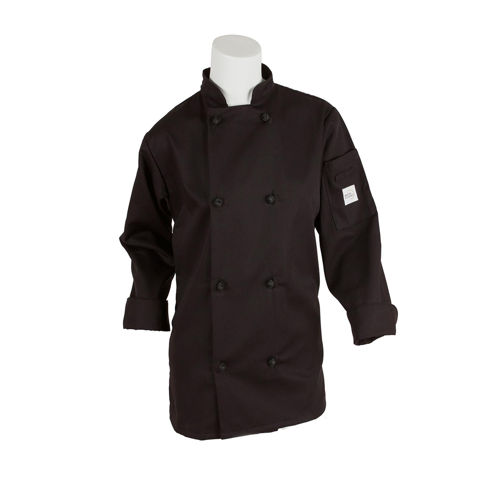 Mercer Culinary M60022BKM chef's coat