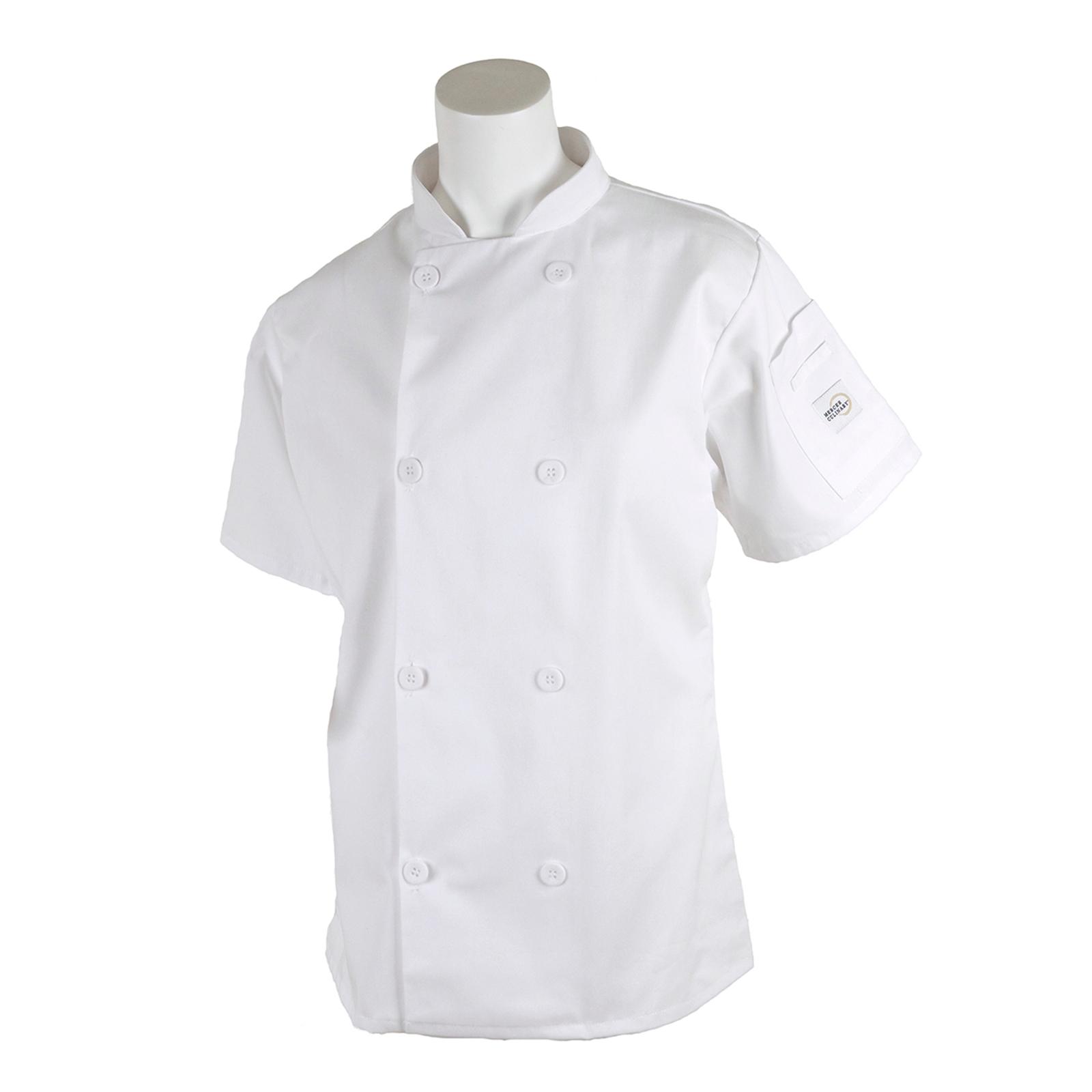 Mercer Culinary M60023WH3X chef's coat
