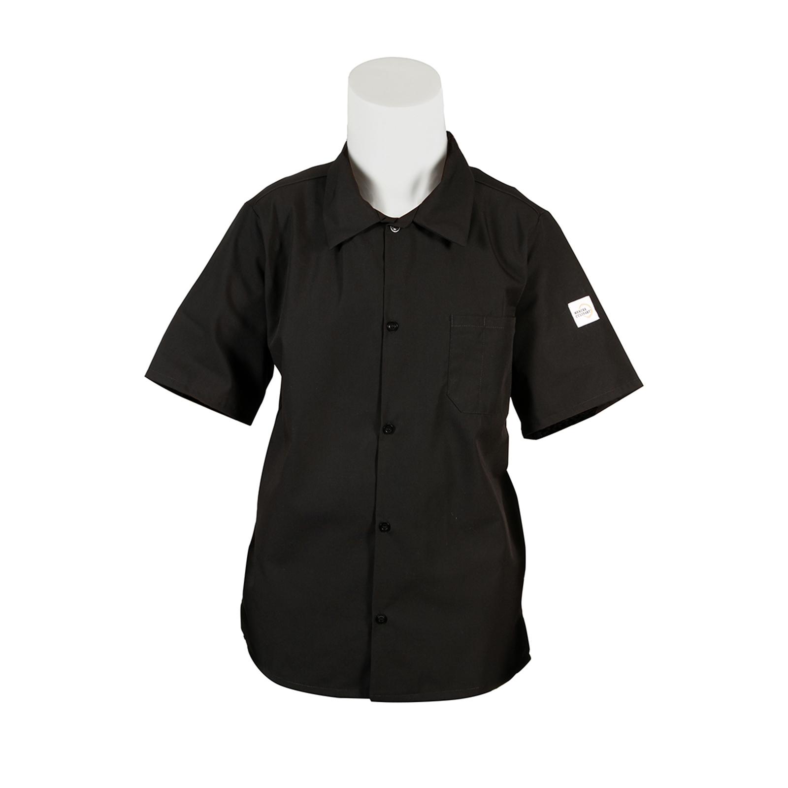 Mercer Culinary M60200BKL cook's shirt