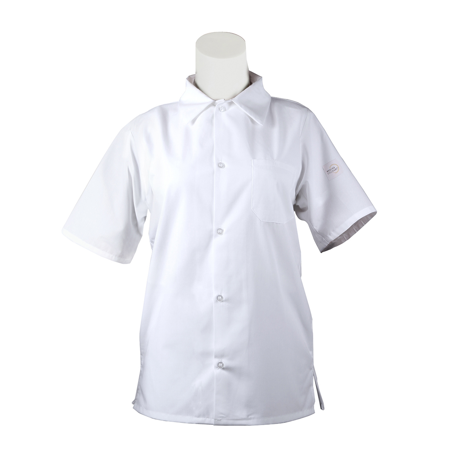 Mercer Culinary M60200WH8X cook's shirt