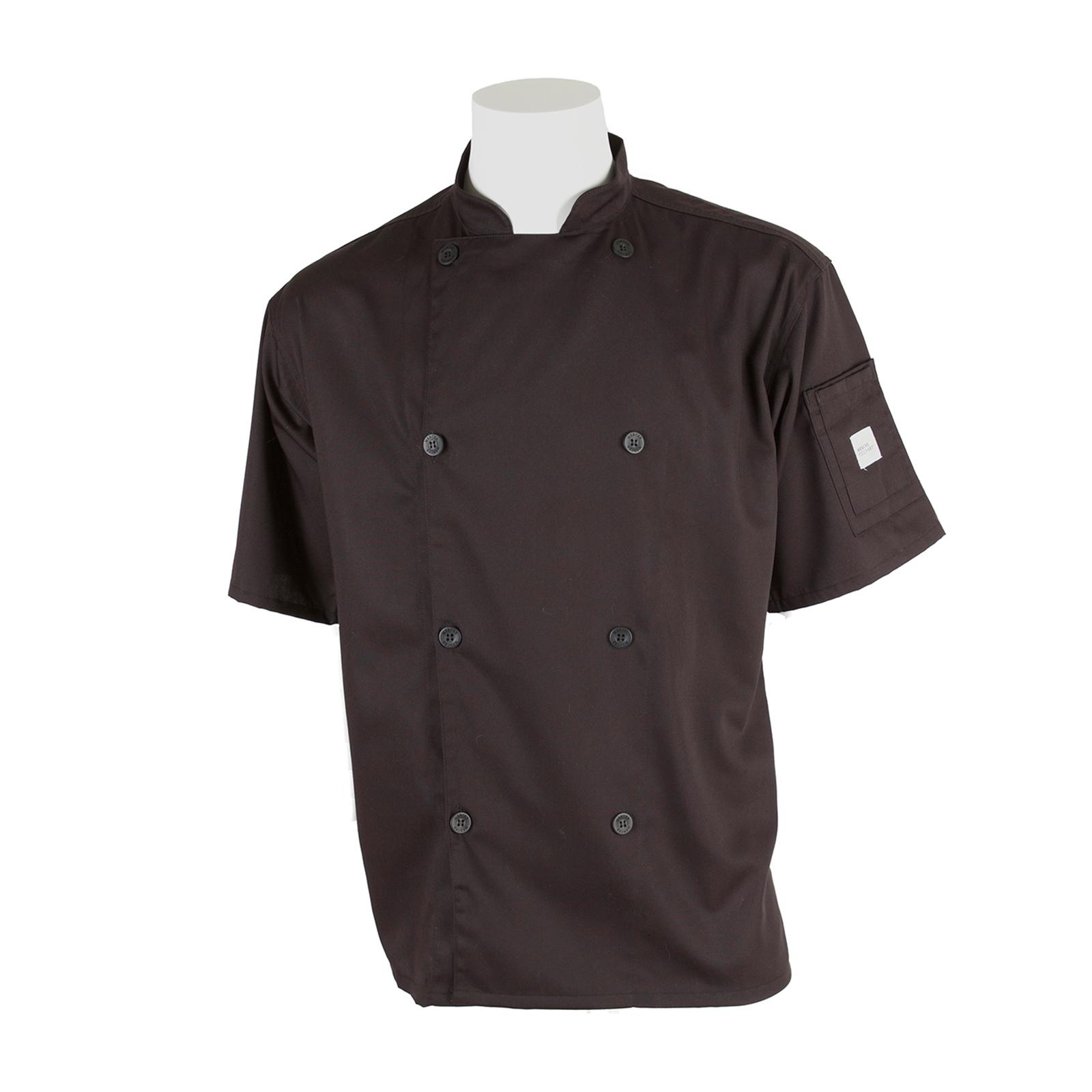 Mercer Culinary M61012BK3X chef's coat
