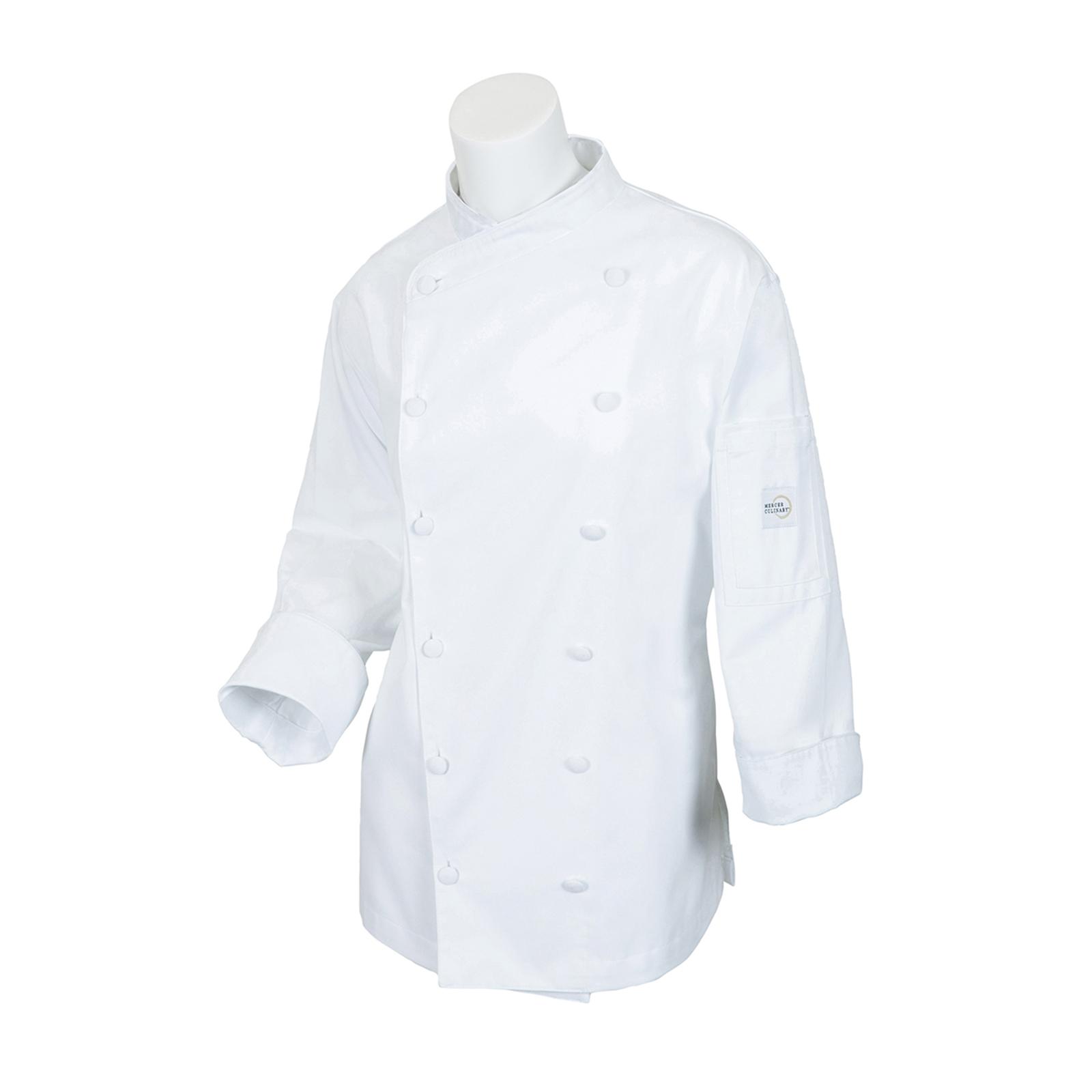 Mercer Culinary M62040WHL chef's coat