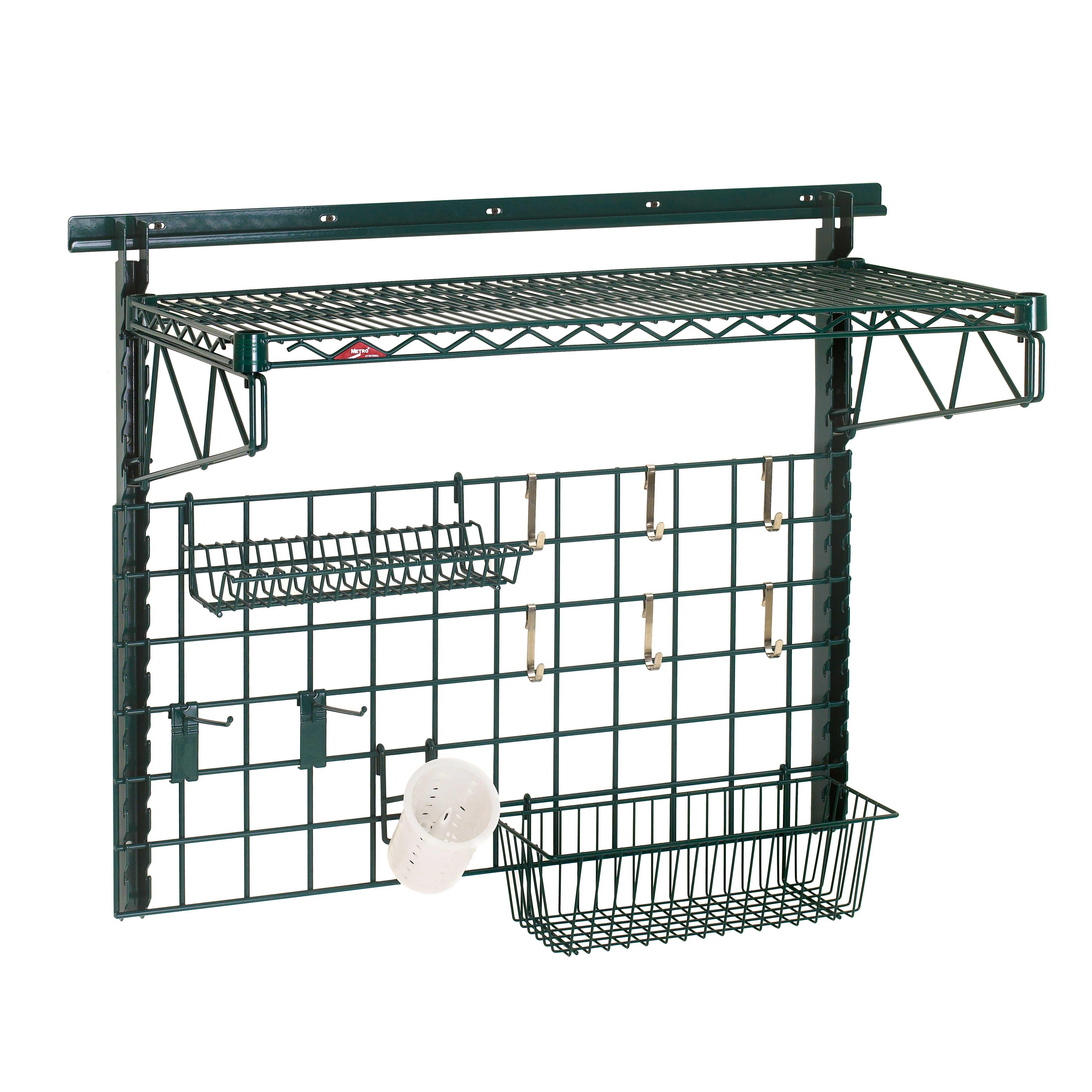 Metro SWK36-1A1-SR shelving, wall grid unit