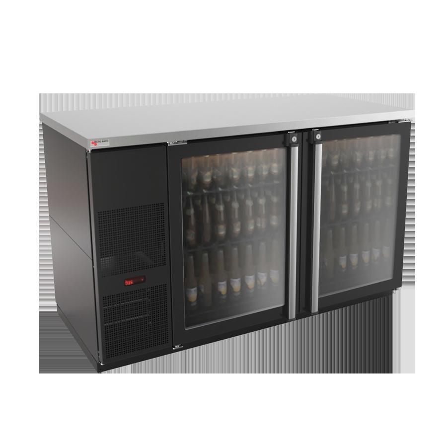 Micro Matic USA MBB58G-E back bar cabinet, refrigerated