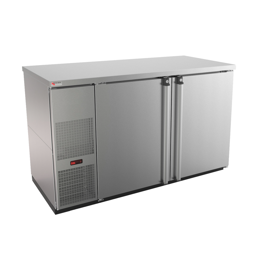 Micro Matic USA MBB58S-E back bar cabinet, refrigerated