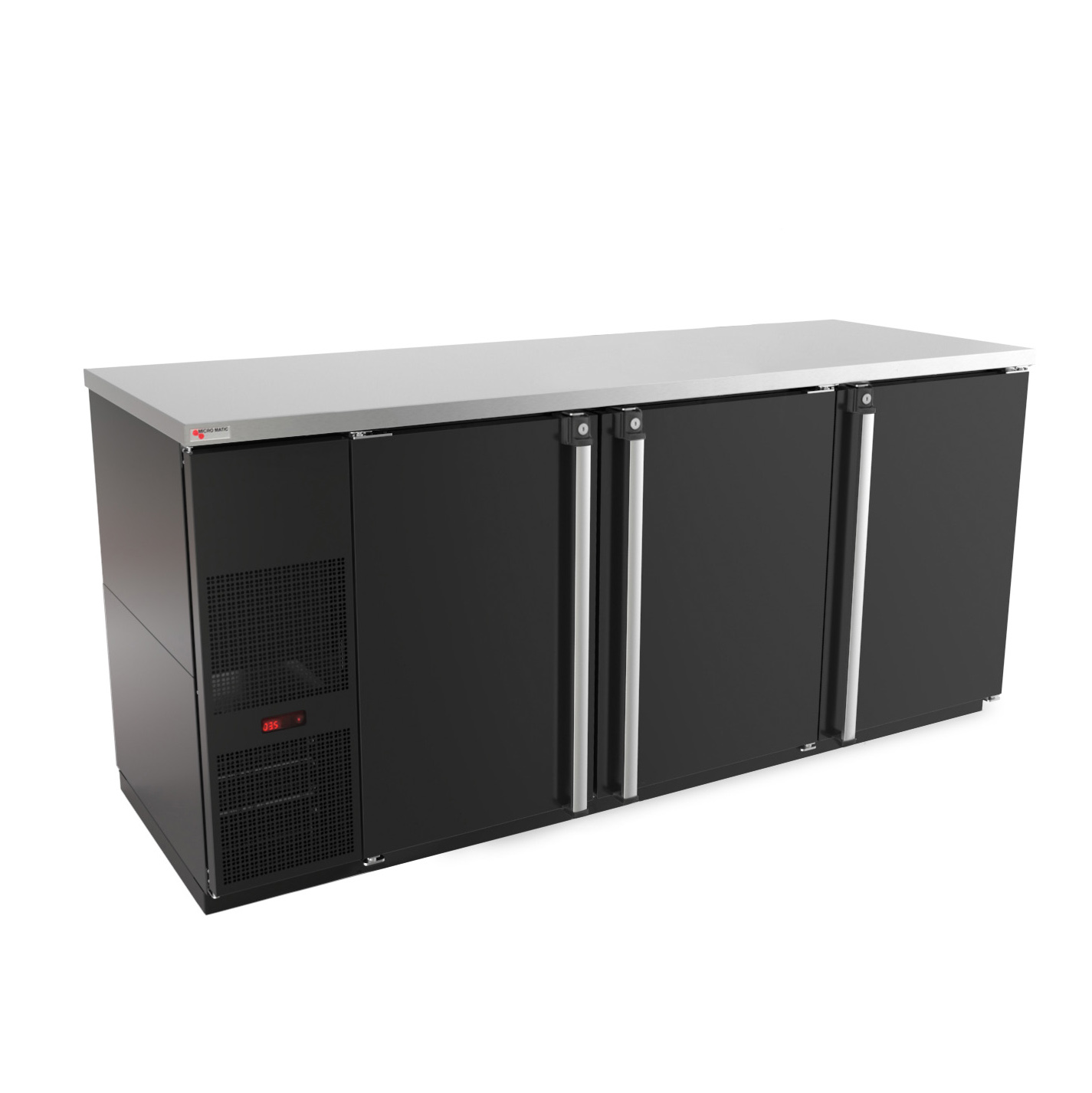 Micro Matic USA MBB78-E back bar cabinet, refrigerated