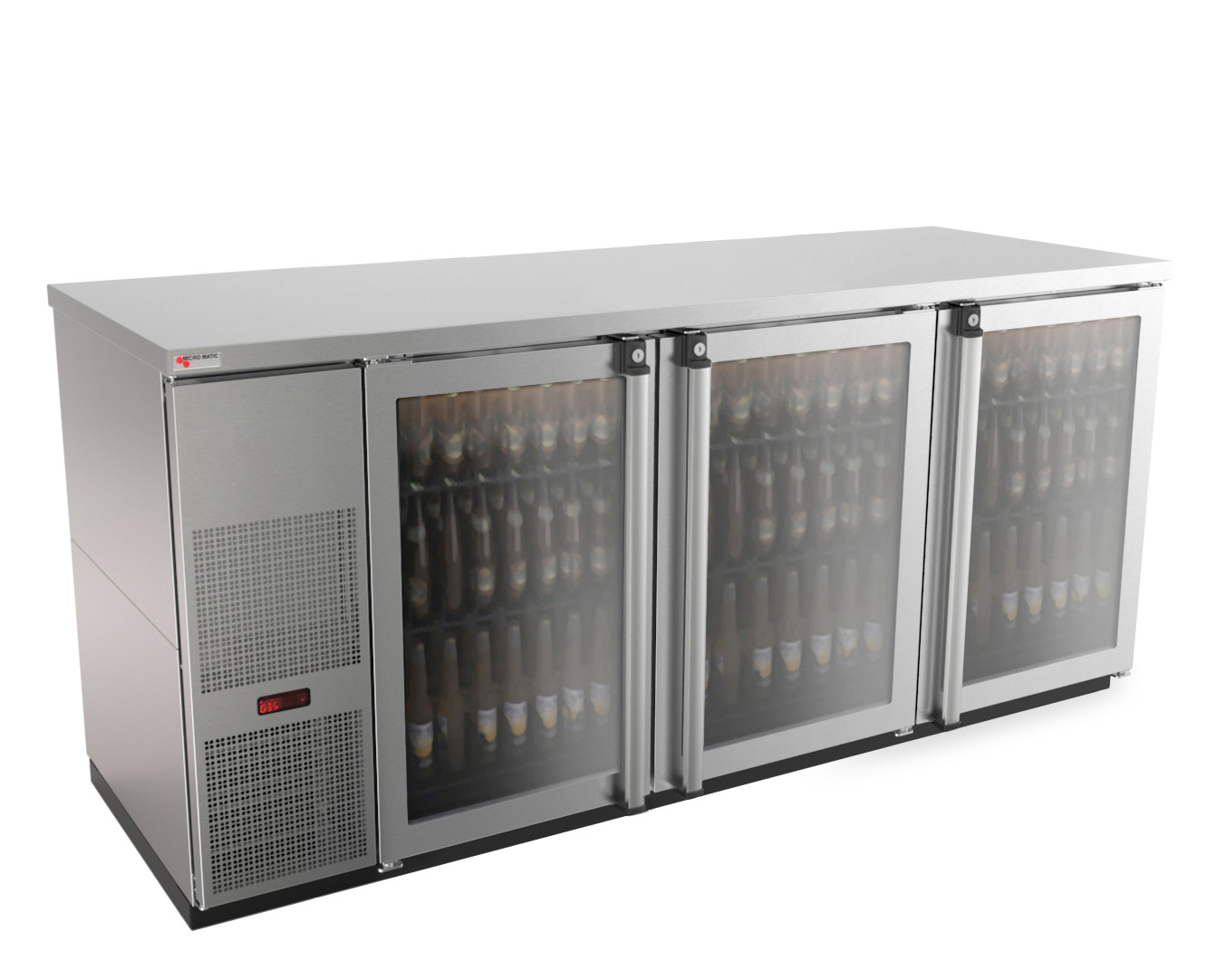 Micro Matic USA MBB78GS-E back bar cabinet, refrigerated