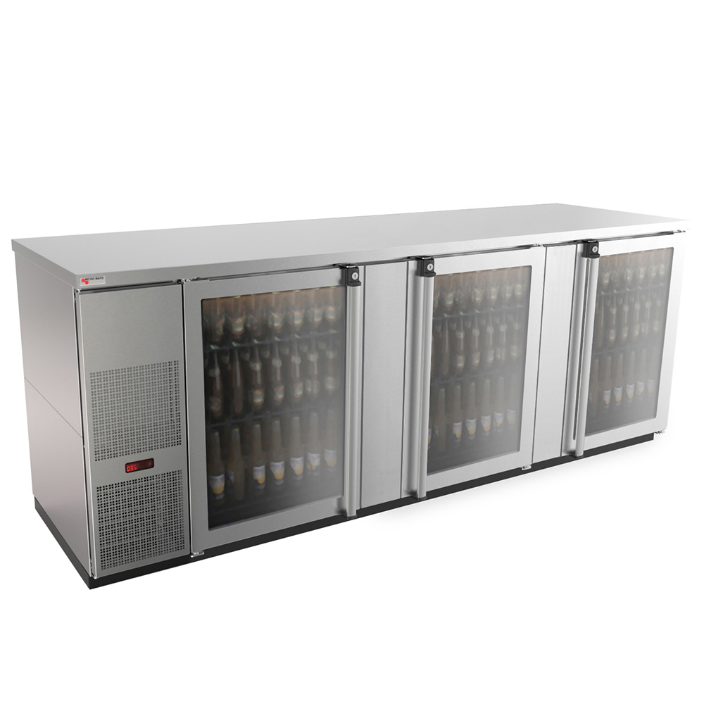 Micro Matic USA MBB94GS-E back bar cabinet, refrigerated