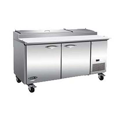 MVP IPP71-4D refrigerated counter, pizza prep table