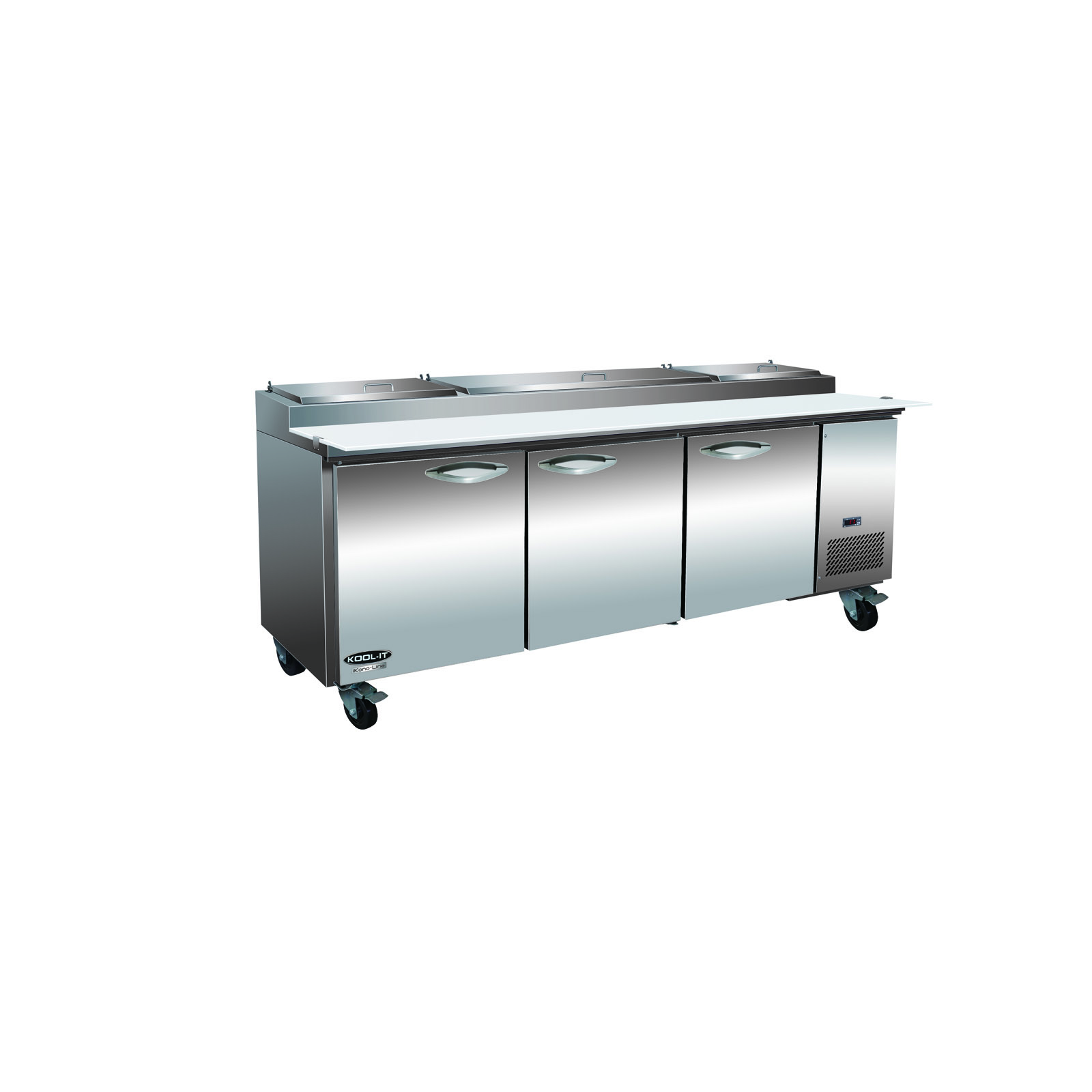 MVP IPP94-4D refrigerated counter, pizza prep table