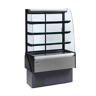 MVP KBD-CG-40-D display case, non-refrigerated bakery