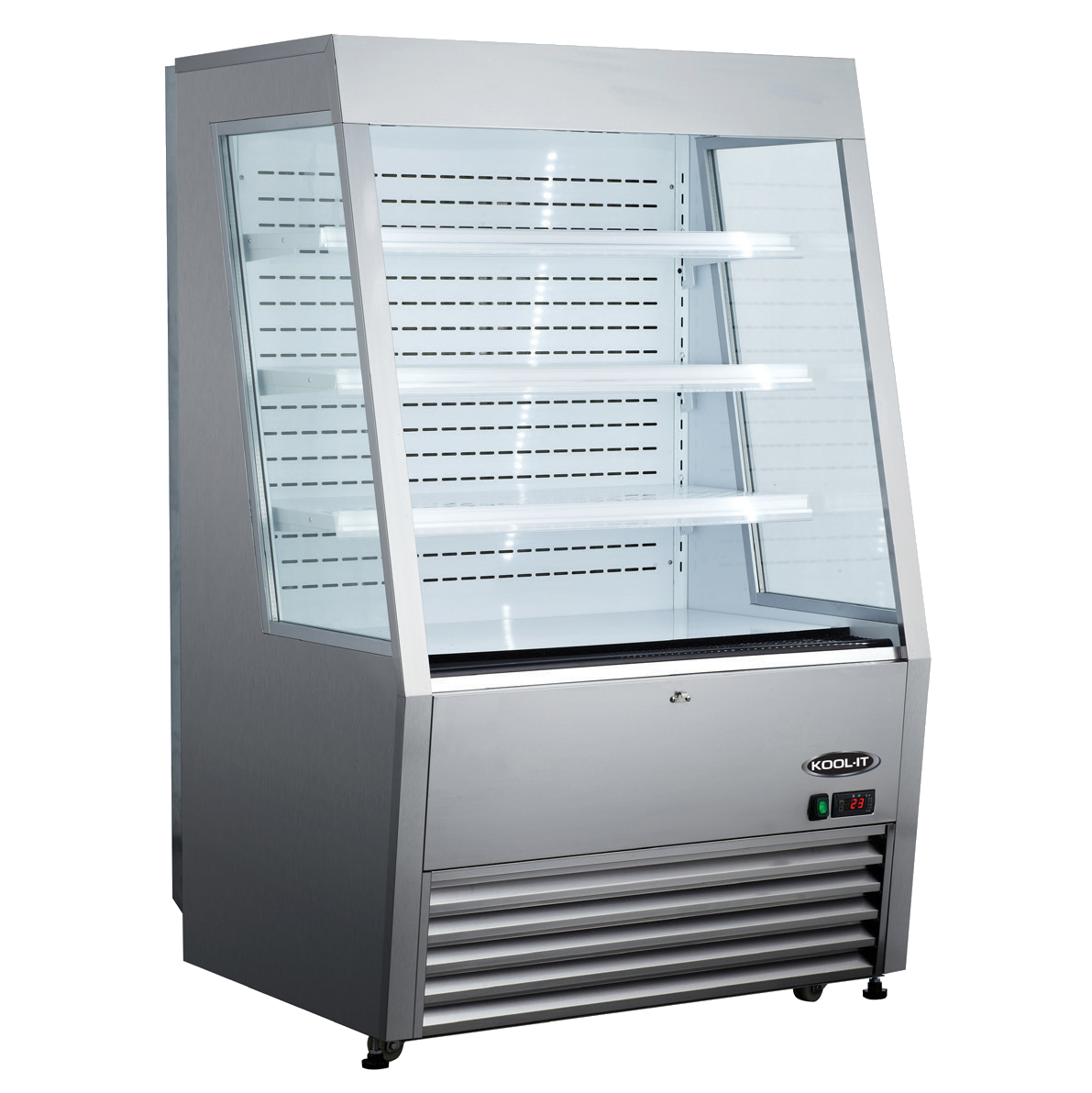 MVP KOM-36 SS display case, refrigerated, self-serve