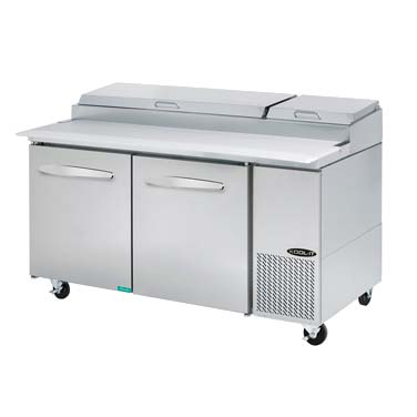 MVP KPT-67-2 refrigerated counter, pizza prep table